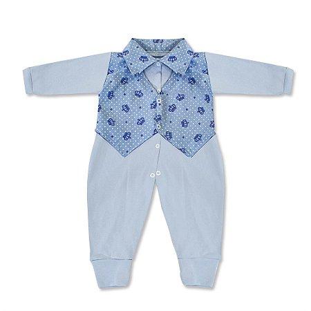 Macacão Lucca Azul Bebê