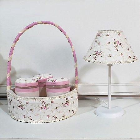 Kit Acessórios Alicia Floral Luxo 5 Peças