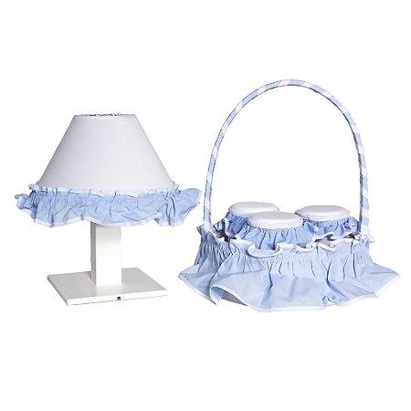 Kit Acessórios Bichos Azul Bebê 5 Peças