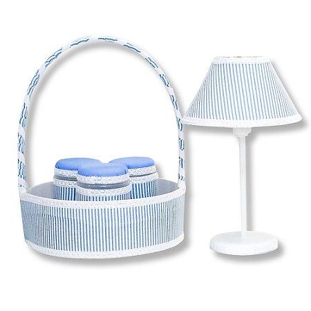 Kit Acessórios Clássico Azul Bebê 5 Peças