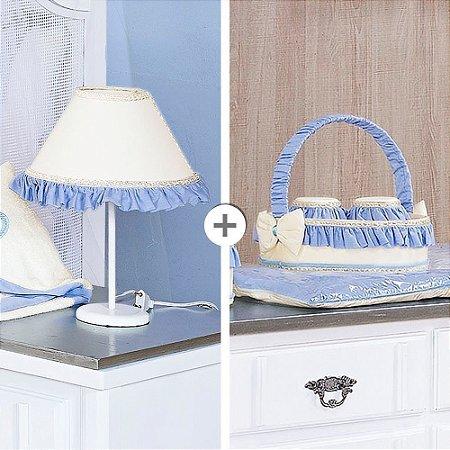 Kit Acessórios Realeza New Azul Bebê 5 Peças