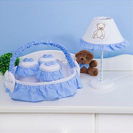 Kit Acessórios Teddy Lovely Azul Bebê 5 Peças