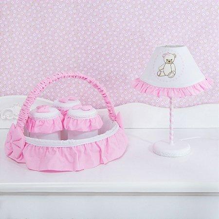 Kit Acessórios Teddy Lovely Rosa 5 Peças