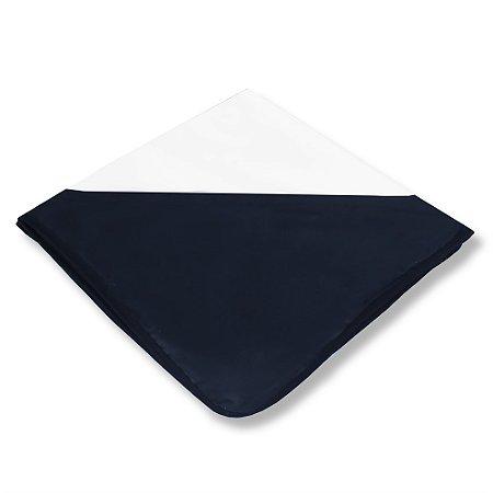 Manta Enxoval de Malha Bichos Azul Marinho