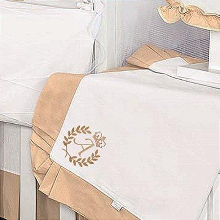 Manta Enxoval Piquet Feito A Mão Palha
