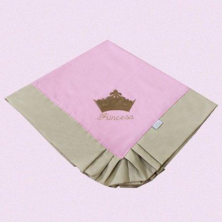 Manta Piquet Princesa Luxo Rosa