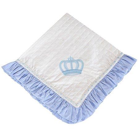 Manta Piquet Realeza New Azul Bebê