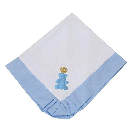 Manta Piquet Urso Encantado Azul Bebê