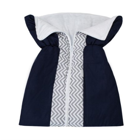 Porta Bebê Chevron Azul Marinho