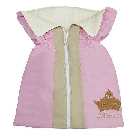 Porta Bebê Princesa Luxo Rosa