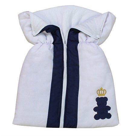 Porta Bebê Urso Encantado Marinho