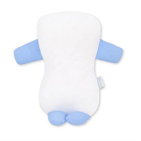 Travesseiro Soninho Elefante Azul Bebê
