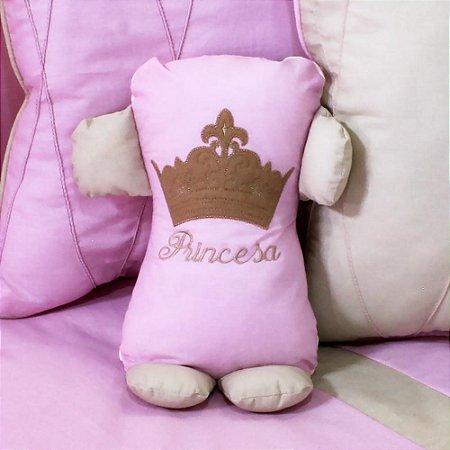 Travesseiro Soninho Princesa Luxo Rosa