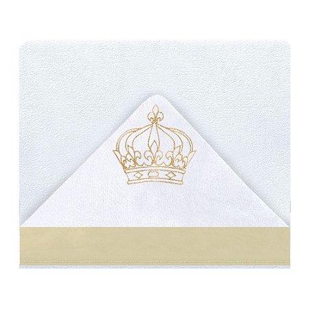 Toalha De Banho Com Capuz Majestade 2 Peças