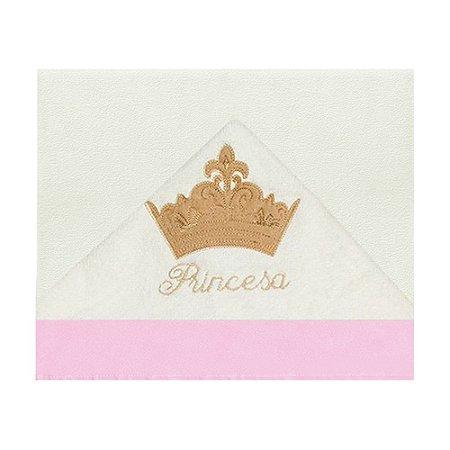 Toalha De Banho Com Capuz Princesa Luxo Rosa