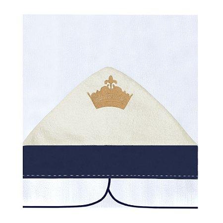 Toalha Fralda Com Capuz Príncipe Luxo