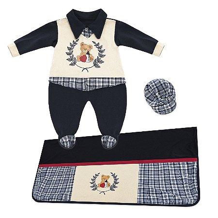 Saída Maternidade Ursinho Pimpom 3 Peças