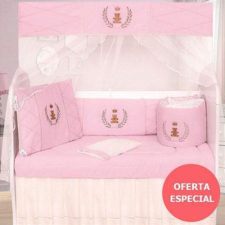Kit Berço Realeza Luxo Rosa