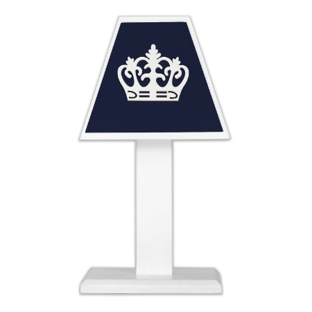 Abajur Coroa Real Marinho Mdf