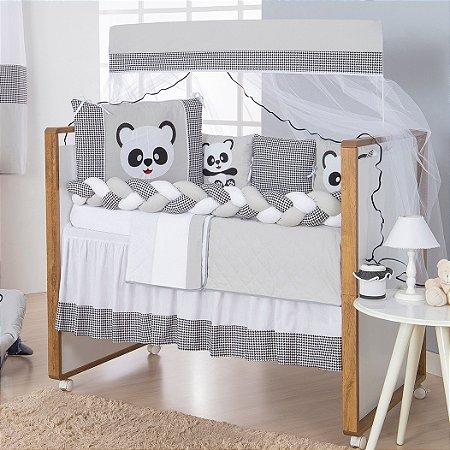 Kit Berço Trança Panda 11 Peças