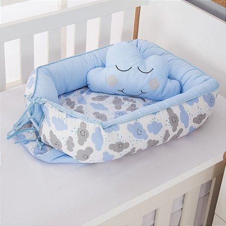 Ninho Redutor de Berço Nuvem Azul Bebê 2 Peças