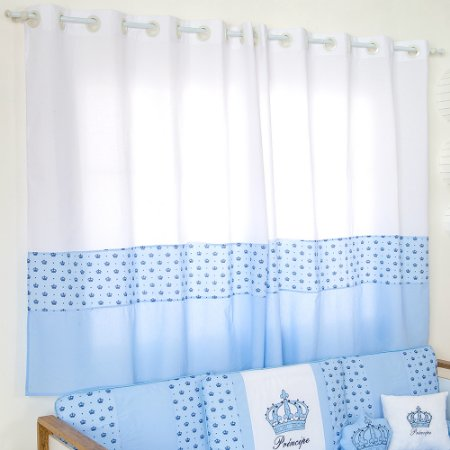 Cortina Imperial Príncipe Azul Bebê