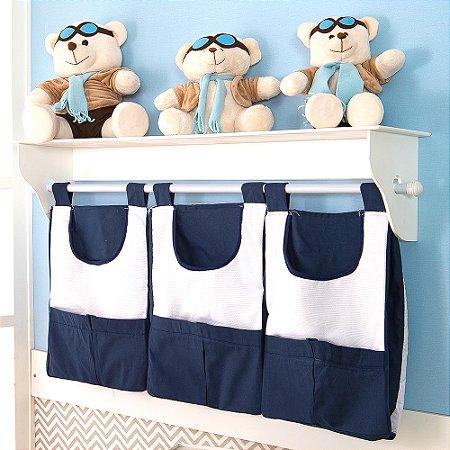 Porta Fraldas de Parede Imperial Príncipe Azul Marinho