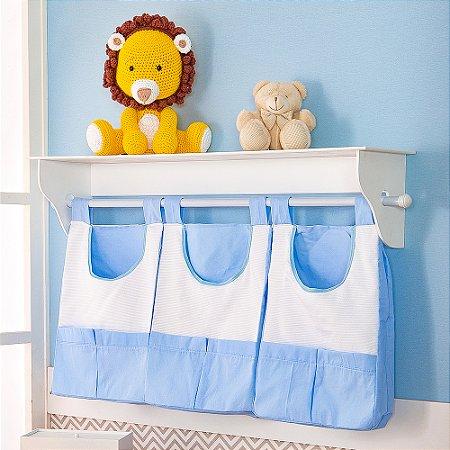 Porta Fraldas de Parede Savana Azul Bebê