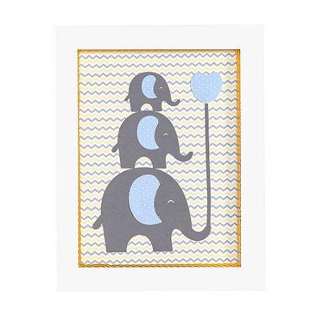 Quadrinho Nicho Elefante MDF