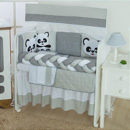 Kit Mini Berço Trança Panda