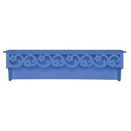 Prateleira Floral Azul Marinho MDF