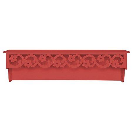 Prateleira Floral Vermelha MDF