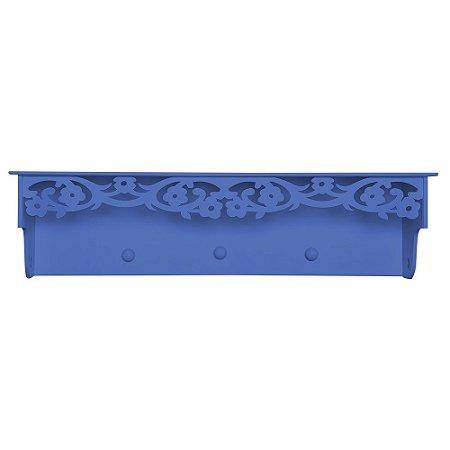 Prateleira Cabideiro Fiori Azul Marinho MDF