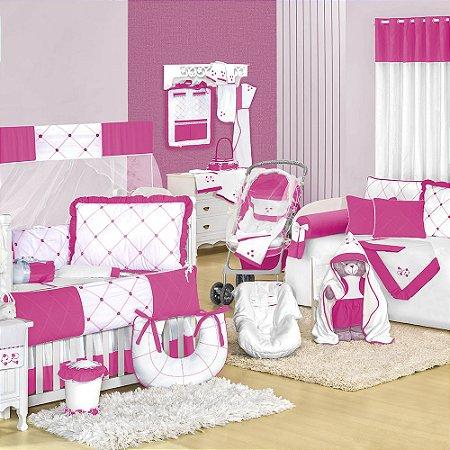 Quarto para Bebê Flores Pink
