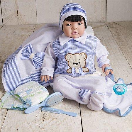 Boneco Bebê Reborn Kiss Gustavo com Acessórios