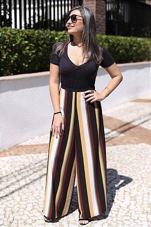 Calça Pantalona Envelope Listrada Bruna - Annahí Boutique 200d281f3a4