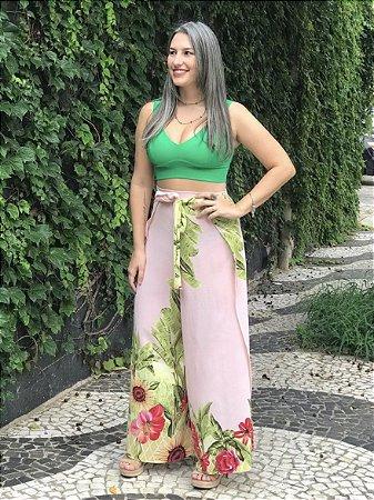 Calça Pantalona Envelope Girassol Rosé