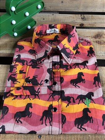 Camisa Feminina Country Horse Life