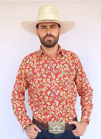 Camisa Masculina Country Paisley