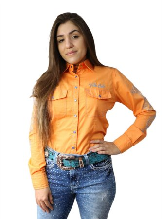 CAMISA FEMININA COUNTRY AMARILLO