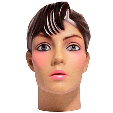 Cabeça Manequim Expositor Feminino Maquiada em PVC E-01 MCM Zoke