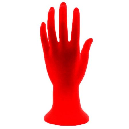 Mão Manequim para Exposição de Jóias Flocada 100447 Vermelha Zoke