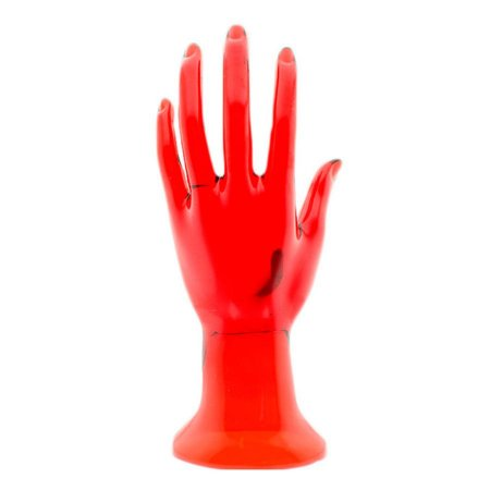 Mão Manequim para Exposição de Jóias em Acrílico 100215 Vermelha Zoke
