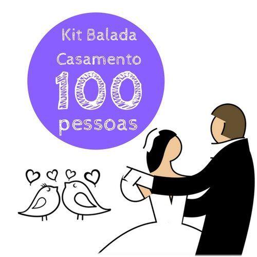 Kit festa Balada Casamento - 100 convidados