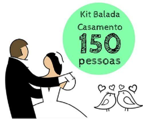 Kit festa Balada Casamento - 150 convidados