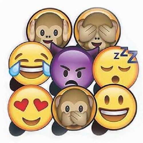 Plaquinhas Divertidas Emoji