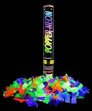 Lança Confetes Neon Festa Brilha Luz Negra Fluorescente