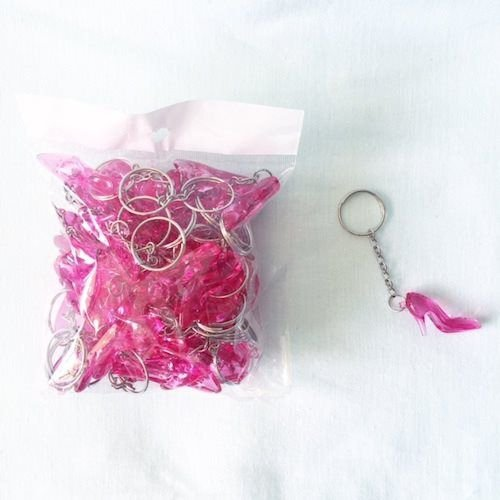 Chaveiros Sapatinhos Rosa Para Hora do Sapato da Noiva