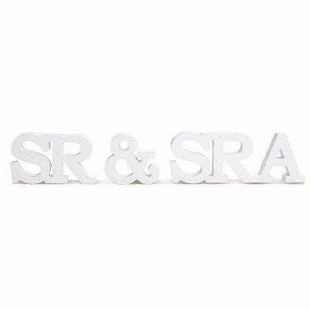 Letras de Madeira SR & SRA