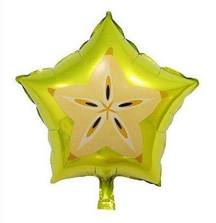 Balão Metalizado Formato de Carambola 6 unidades